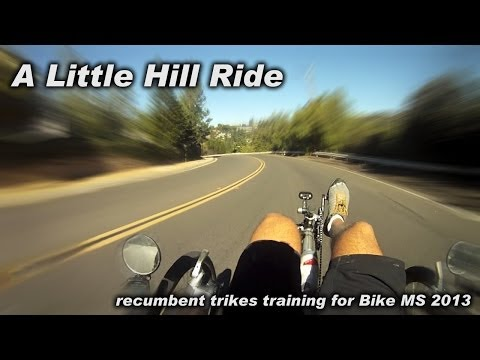 A Little Hill Ride - hill training for Recumbent Trike MS in Orange Hills - 11/22/2013