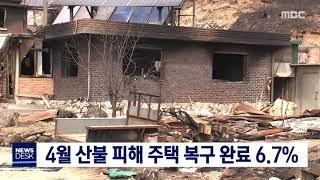 4월 산불 피해 주택 복구 완료 6.7%