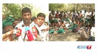 Vishal's speech at TN farmer's protest in Delhi | News7 Tamil