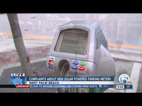 Complaints about new solar powered parking meters