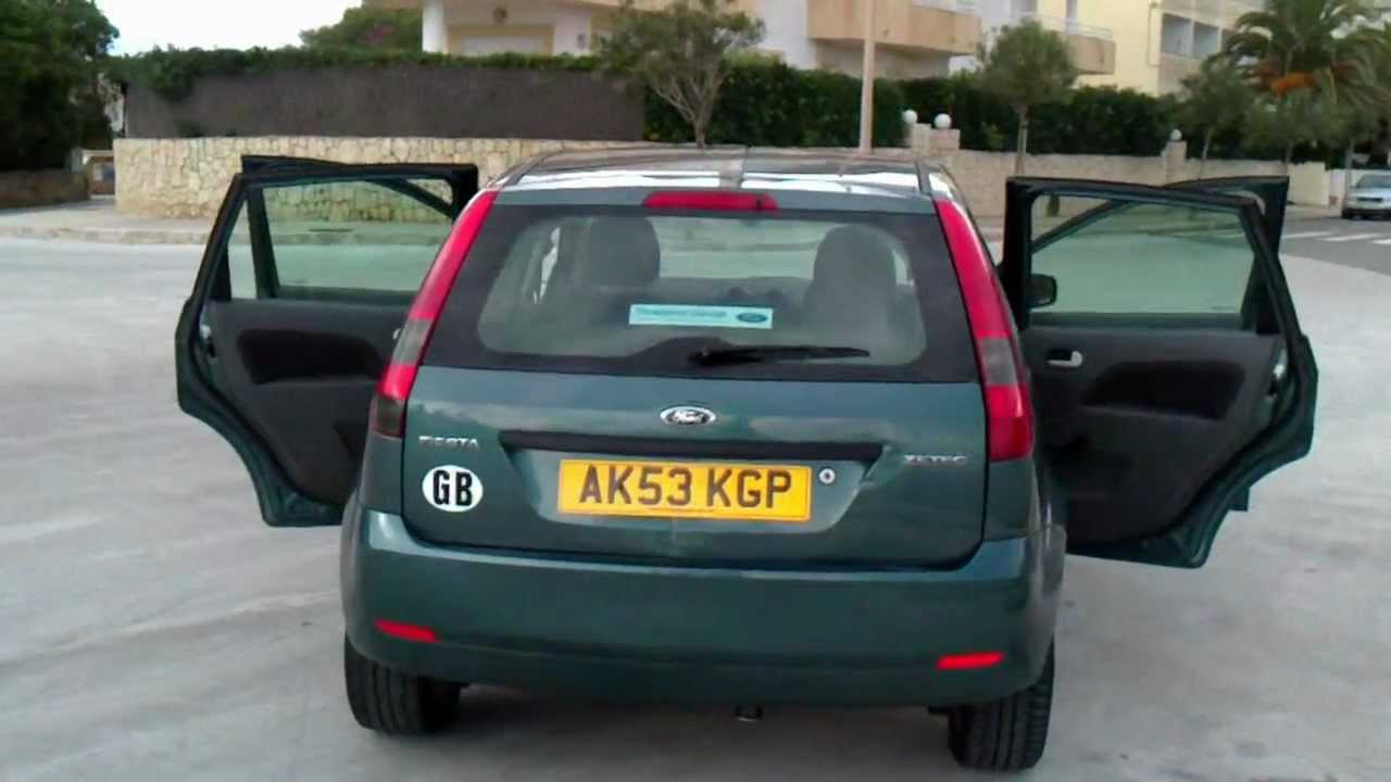 2003 ford fiesta 1 4 zetec 5dr rhd for sale in spain youtube. Black Bedroom Furniture Sets. Home Design Ideas