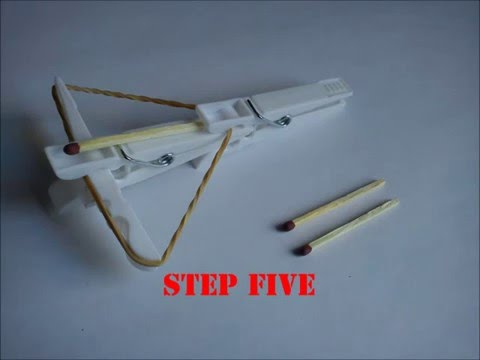 How to make a mini crossbow -W9YTF5hkKs8