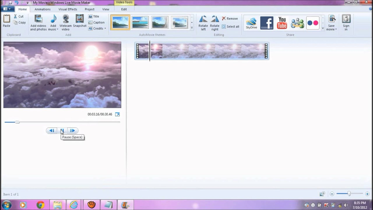 Как вставить текст в видео посредством Windows Movie Maker 21