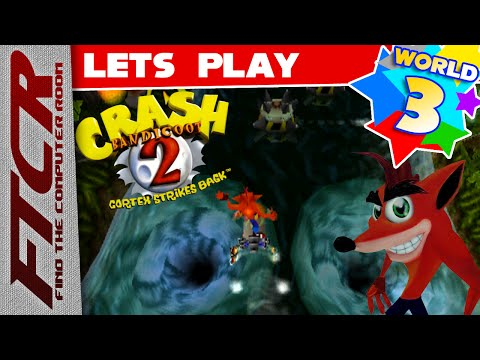 "'Crash Bandicoot 2' Let's Play - World 3 Part 1: ""Thank You, Scientist"""