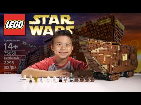 LEGO SANDCRAWLER - LEGO Star Wars UCS Set 75059 Time-lapse. Stop Motion. Unboxing & Review
