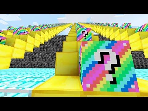 LUCKY BLOCKS RAINBOW STAIRCASE RACE MINI-GAME! (Minecraft PVP Challenge)