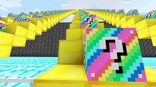 LUCKY BLOCKS RAINBOW STAIRCASE RACE MINI-GAME! (Minecraft PVP Challenge)