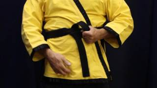 How to tie a Matial Arts Belt on Yourself