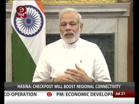 PM Modi, Sheikh Hasina jointly inaugurate Petrapole Integrated Check Post