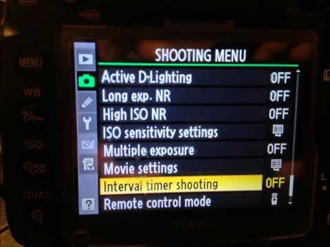 Nikon 1 Setting Manual Mode For Night Time Lapse Star Shoot