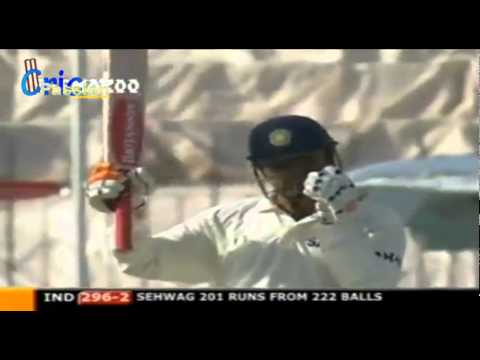 V Sehwag 309  Pakistan V India, 1st Test, Multan, 2004 video