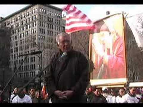Tibetan Uprising 2008 New York City Part 11 Sonam Wangdu