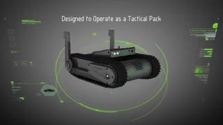New light tactical tracked robot UGV DOGO General Robotics armed with Glock 26 9mm pistol