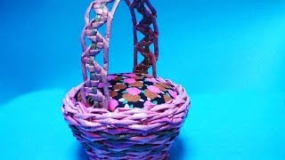 Basketry. A zigzag like holder. Part 8.