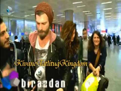 Kivanc came back from russia  to Istanbul 8 3 2014عودة كيفانج الى تركيا