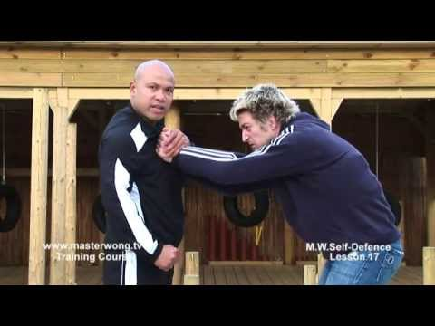 Self-defence Lesson 17 - 2 hand grab to the chest situation No.2, Image 1