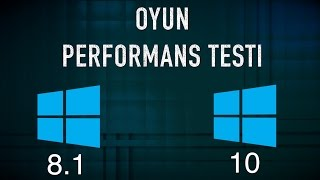 windows 10 vs 8.1 Resmi Çıkış Günü Performans Testi