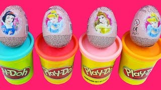 DISNEY PRINCESS Surprise Egg Cinderella Snow White Belle Play Doh Peppa Pig My Little Pony