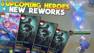 3 NEW HEROES!!! + Valir & Angela Rework + Odette Epic Skin Gameplay Mobile Legends