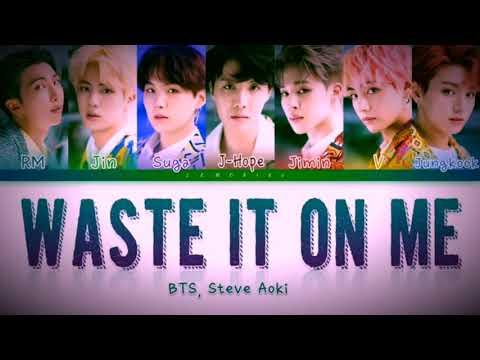 Waste It On Me - Steve Aok & BTS 'Lyrics'