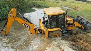 JCB Dozer Breaking Bridge Wall - JCB Working For New Bridge Construction - Dozer Video