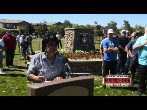 http://www.kfiv1360.com What Matters Now. 7/30/12 Oakdale California, Champion NHRA Driver and home town hero Eric Medlen, has community park named in his ho...