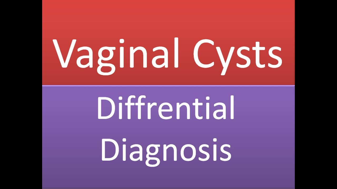 Vaginal Cysts and Swellings : Differential Diagnosis ...