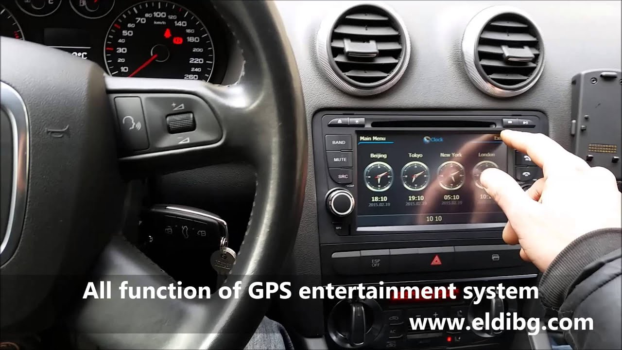 Audi a3 multimedia system with gps ipod usb sd wifi phone book 3g dvr dvb t youtube