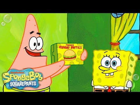 SpongeBob SquarePants   Patrick & SpongeBob Shoot a Frozen Krabby Patty Commercial   Nick
