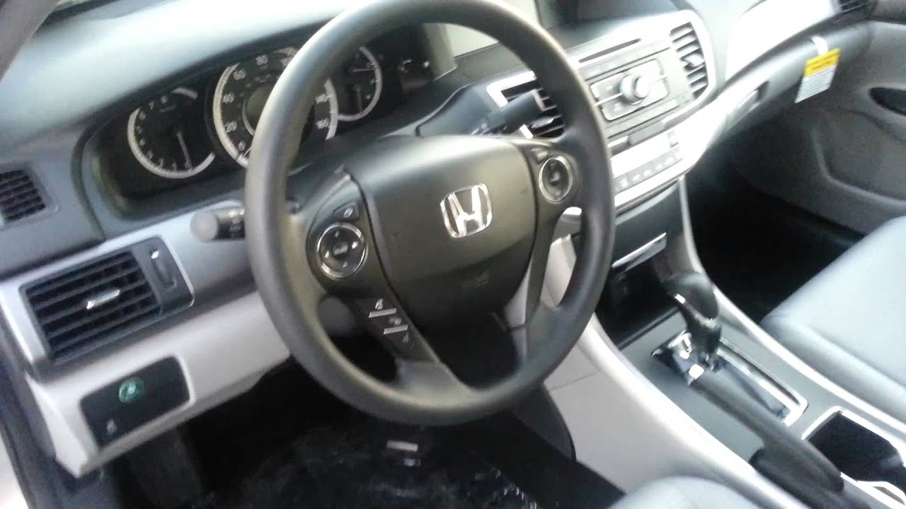 Honda Accord Lx >> 2014 Honda Accord LX interior video demo - YouTube