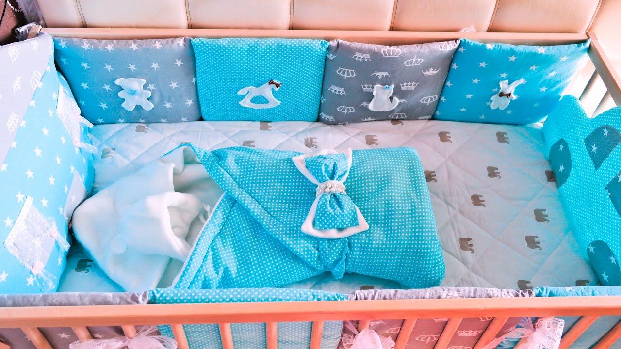 Как сшить бортики подушки в кроватку для новорожденного 36