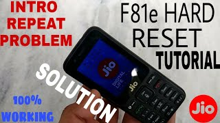 Startup Hang JioPhone|| Hard Reset Method of F81e - Problem Solved (New Method)