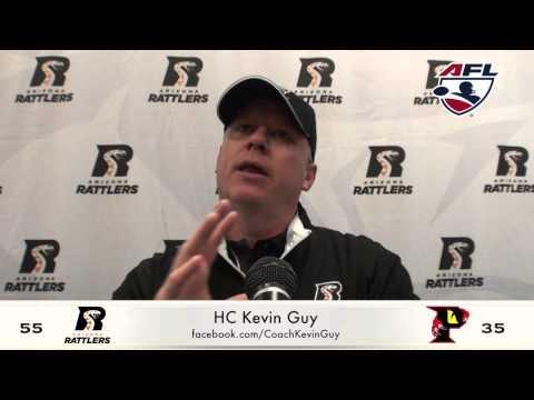 6-20-15; Arizona Rattlers Post Game Press, Coach Kevin Guy