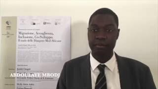Abdoulaye Mbodj - Migrazione accoglienza inclusione cosviluppo