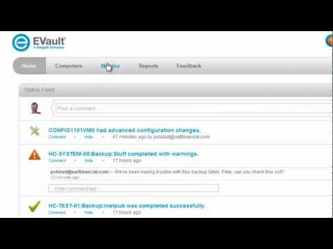EVault 7 Portal Demo Part 1 – Backup and Recovery Goes Social