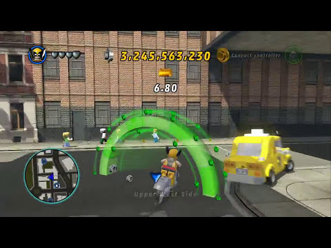 LEGO Marvel Super Heroes - Unlocking Wolverine's Motorcycle + Gameplay (Vehicle Token Guide)