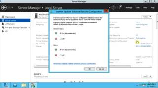 How to disable the Internet Explorer Enhanced Security Configuration (IE ESC) in Windows Server 2012