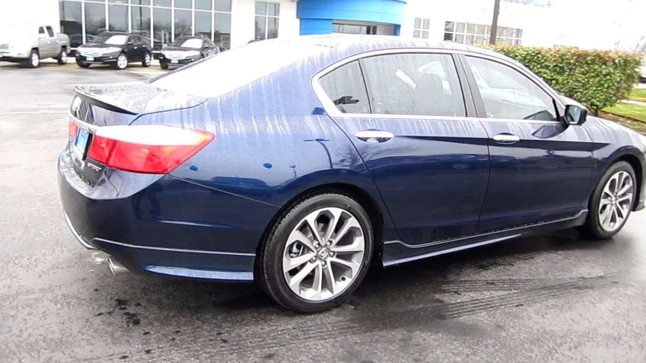 2013 Honda Accord Sport Sedan CVT, blue - Stock# A3097 - Walk around ...