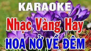 Karaoke Nhạc Sống Liên Khúc Hoa Nở Về Đêm | Lk Bolero Nhạc Sến Trữ Tình | Trọng Hiếu