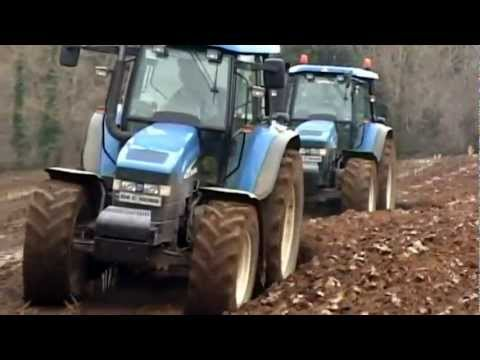 New Holland TM 155 & 175 plowing with Kverneland 4 & 5 schar plows