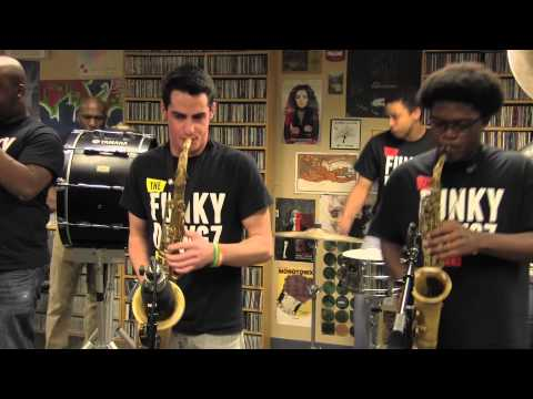 "WHUS Studio Sessions: Funky Dawgz Brass Band perform ""Crazy In Love"" & ""Get Lucky"""