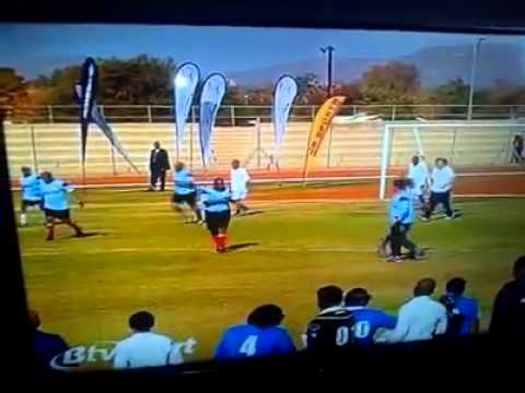 President Khama Showing Football Skills.