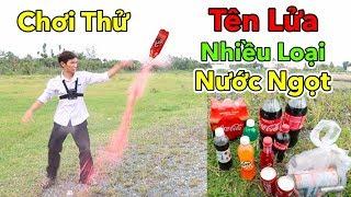 Lâm Vlog - Chơi Thử Tên Lửa Từ Các Loại Nước Ngọt Có Gas | Vừa Vui Vừa Lầy | Coke Rocket