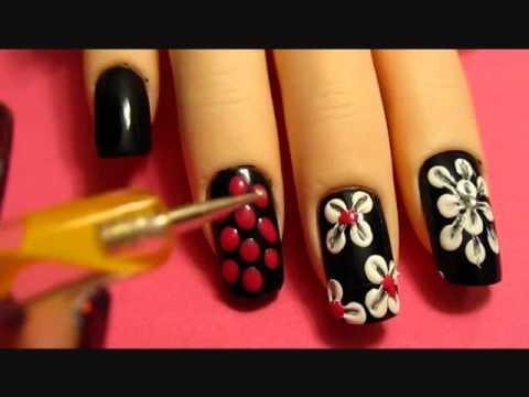 Nail Art Flower Designs Beginners Flower Nail Designs