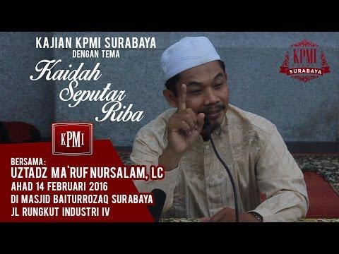 Kaidah Seputar Riba - Ustadz Ma'ruf Nursalam
