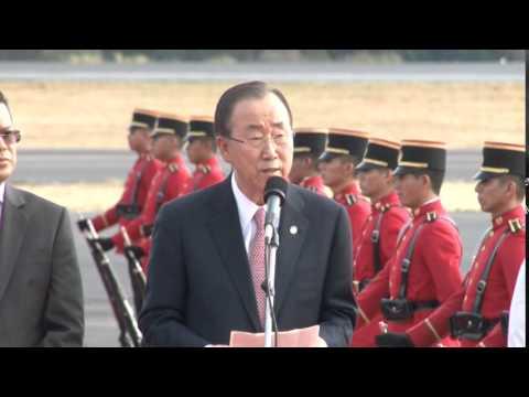 Secretario general de la ONU, Ban Ki-moon llegó a El Salvador