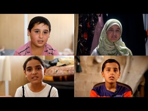 Syria's child refugees: 'You feel that they have lost their hearts'