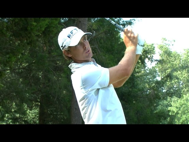 Charles Howell III hits fabulous tee shot on the par-3 16th hole at Quicken Loans