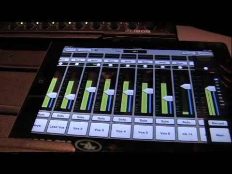 Sweetwater at Winter NAMM 2012 - Mackie DL1608 iPad Mixing System Overview