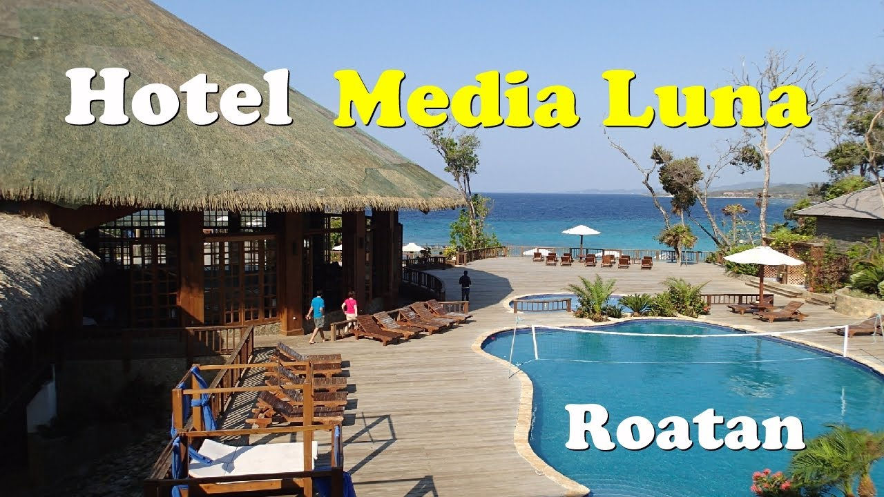 hotel media luna roatan honduras youtube. Black Bedroom Furniture Sets. Home Design Ideas